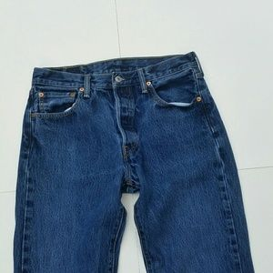 Vintage Levi's 501 Button Fly Dark Straight Jeans